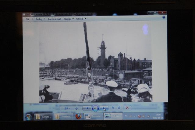 Widok z mostka okrętu Schleswig-Holstein