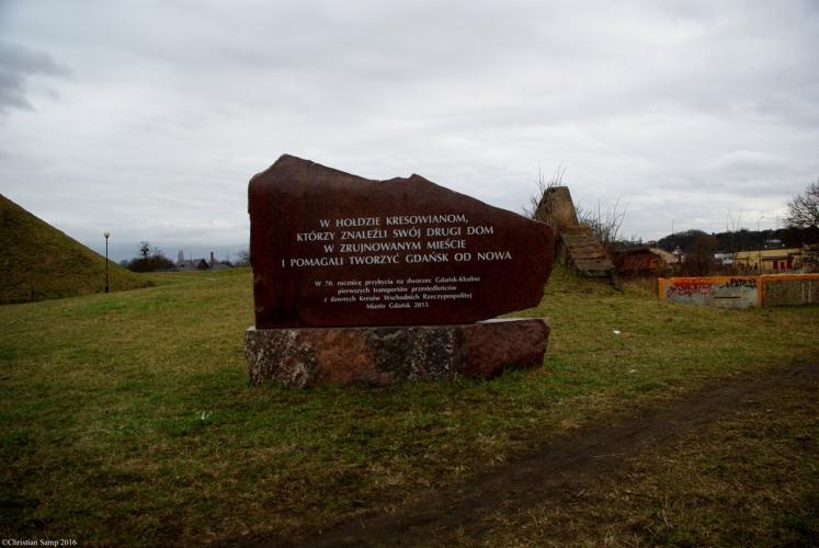 Obelisk poświęcony Kresowianom przybyłym do Gdańska po 1945 roku