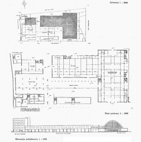 Plan Hal Targowych, Źródło Architektura i Budownictwo (1938 r., nr 4 i 5, s. 156).jpg