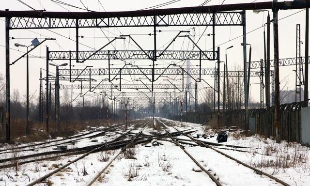 Widok w stronę Gdańska spod nastawni GKK