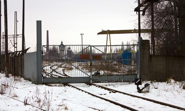 Wjazd na teren zakładów kolejowych