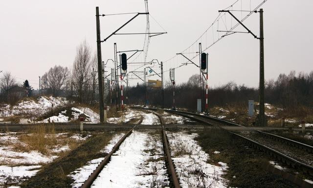 Wjazd na stację w Olszynce