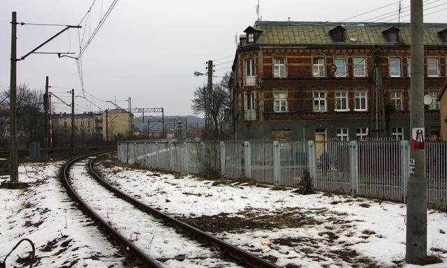 Tutaj Holmbahn włącza się w linię Tczew-Gdańsk