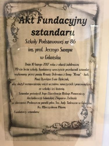 Jerzy Samp patronem SP 86 w Gdańsku