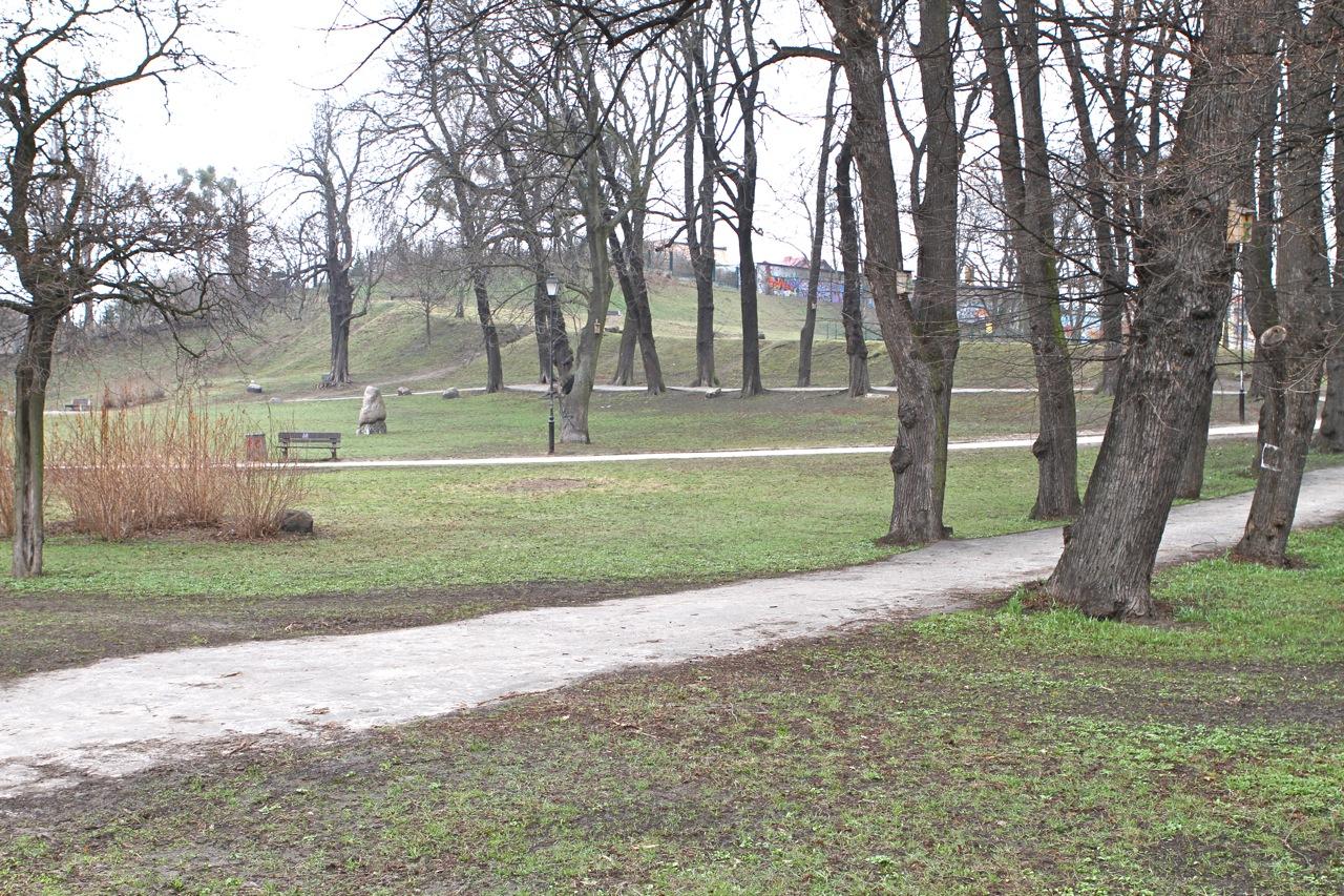 Teren dawnego cmentarza św. Barbary