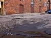 Ślad obrotnicy na skrzyżowaniu ul. Chmielnej i Jaglanej