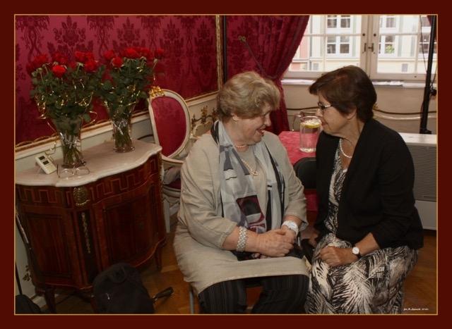 Prof. Ewa Nawrocka i Elżbieta Goetel