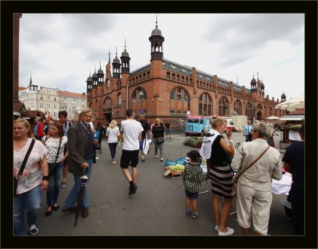 Prof. Gunnar Heinsohn na spacerze po Gdańsku. Sierpień 2015 r.