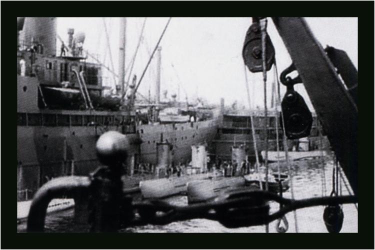 . U – booty w porcie Pillau. Sierpień 1940 rok