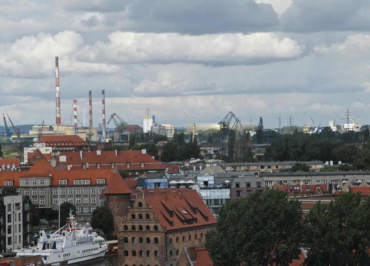 Gdańsk widziany z Marina Club Hotel
