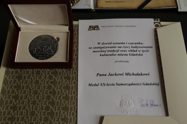 Stefan Jacek Michalak - uroczystośc w Ratuszu Głównego Miasta w Gdańsku