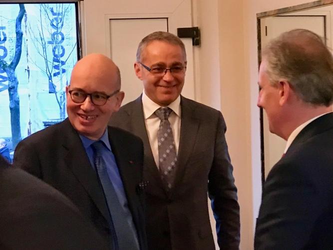 Alain Mompert z Ambasadorem Francji w Polsce i Wojewodą Pomorskim