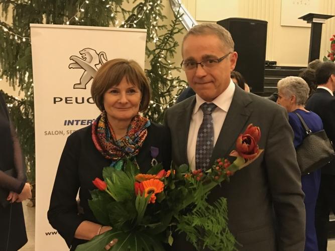 Elżbieta Zaręba i Alain Mompert