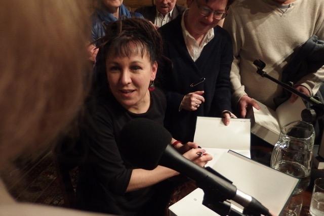 Olga Tokarczuk w Gdańsku / Fot. Joanna Szymula