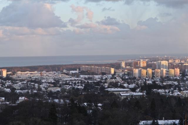 Widok ze Wzgórza Pachołek - grudzień 2014 r.