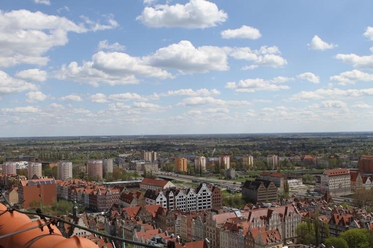Panorama Gdańska z wieży Bazyliki Mariackiej