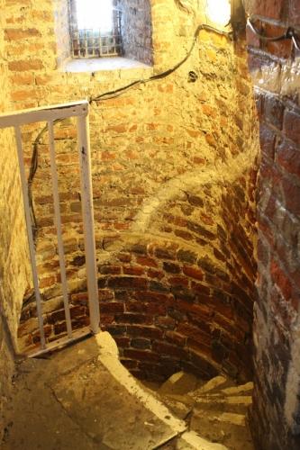 Bazylika Mariacka w Gdańsku - zejście z wieży