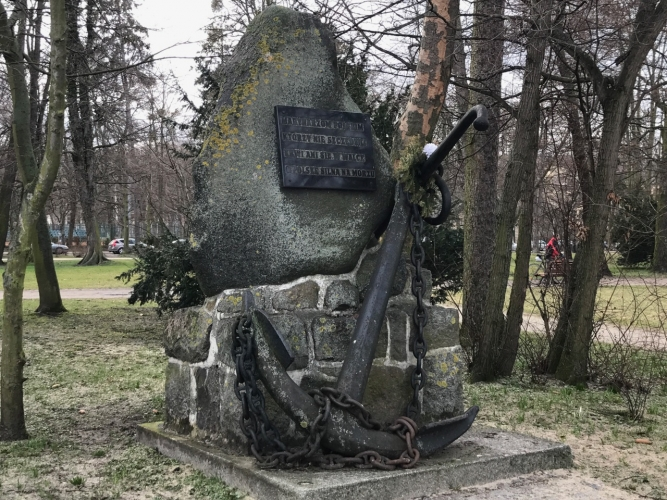 Park Północny - pomnik poświęcony marynarzom