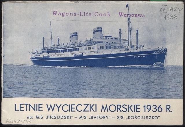 Letnie wycieczki morskie 1936 r. źródło Polona