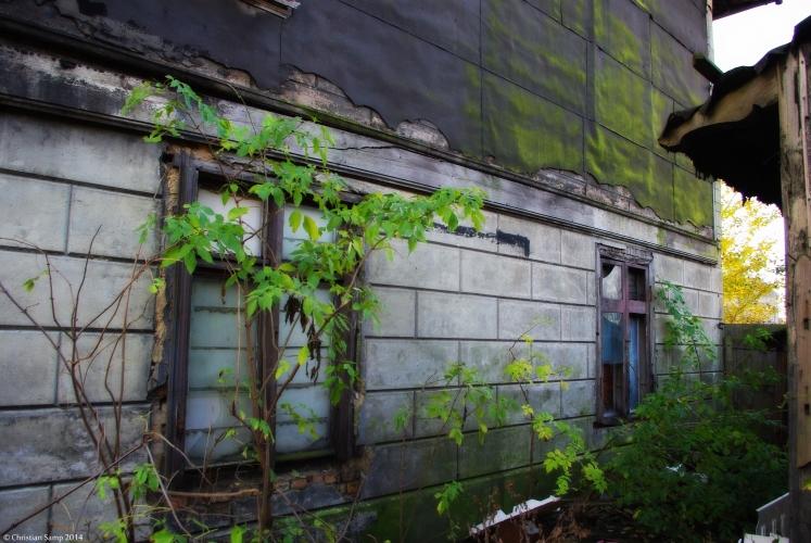 Bok budynku nr 8 ściana boniowana
