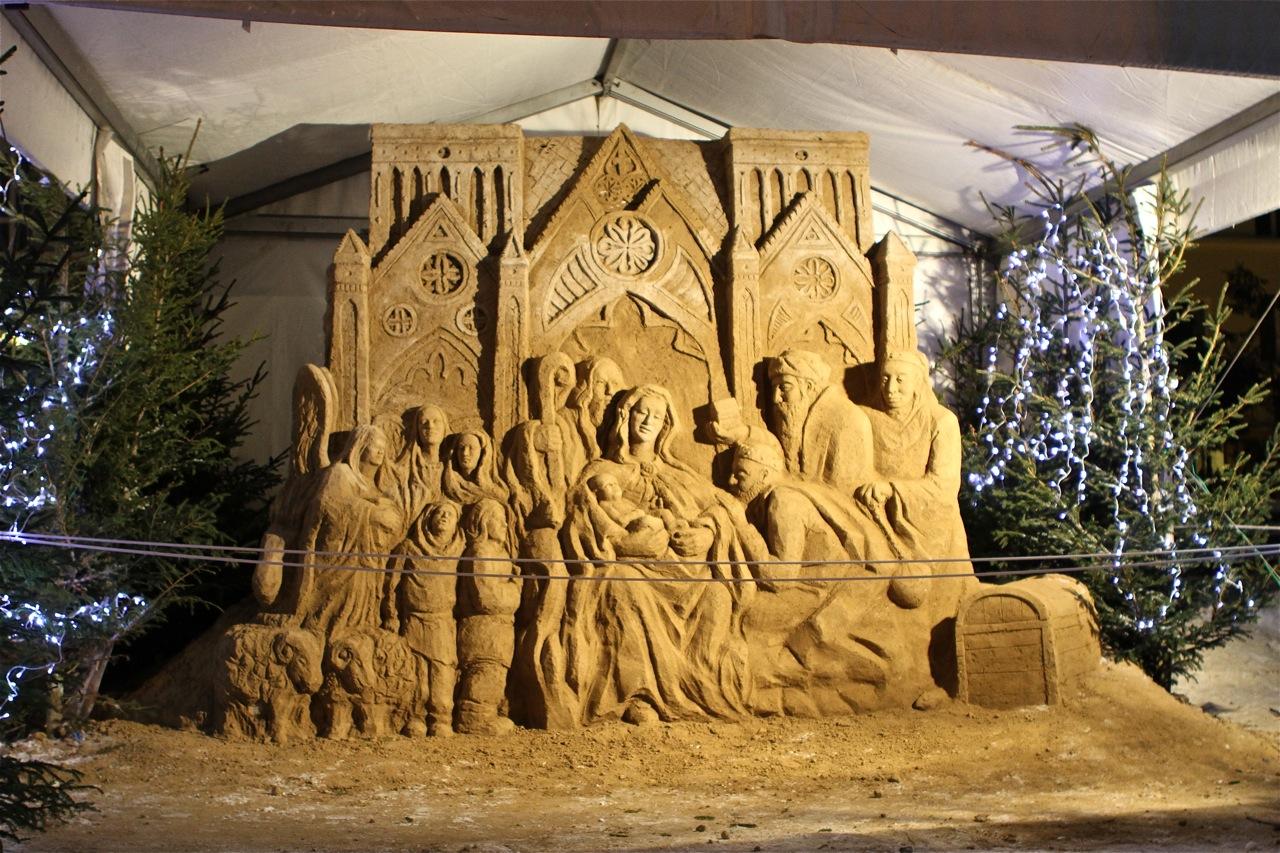 Szopka z piasku w Gdyni