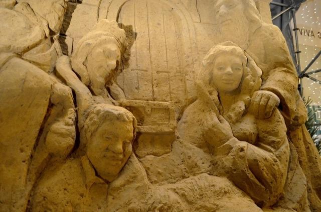Szopka z piasku w Oliwie