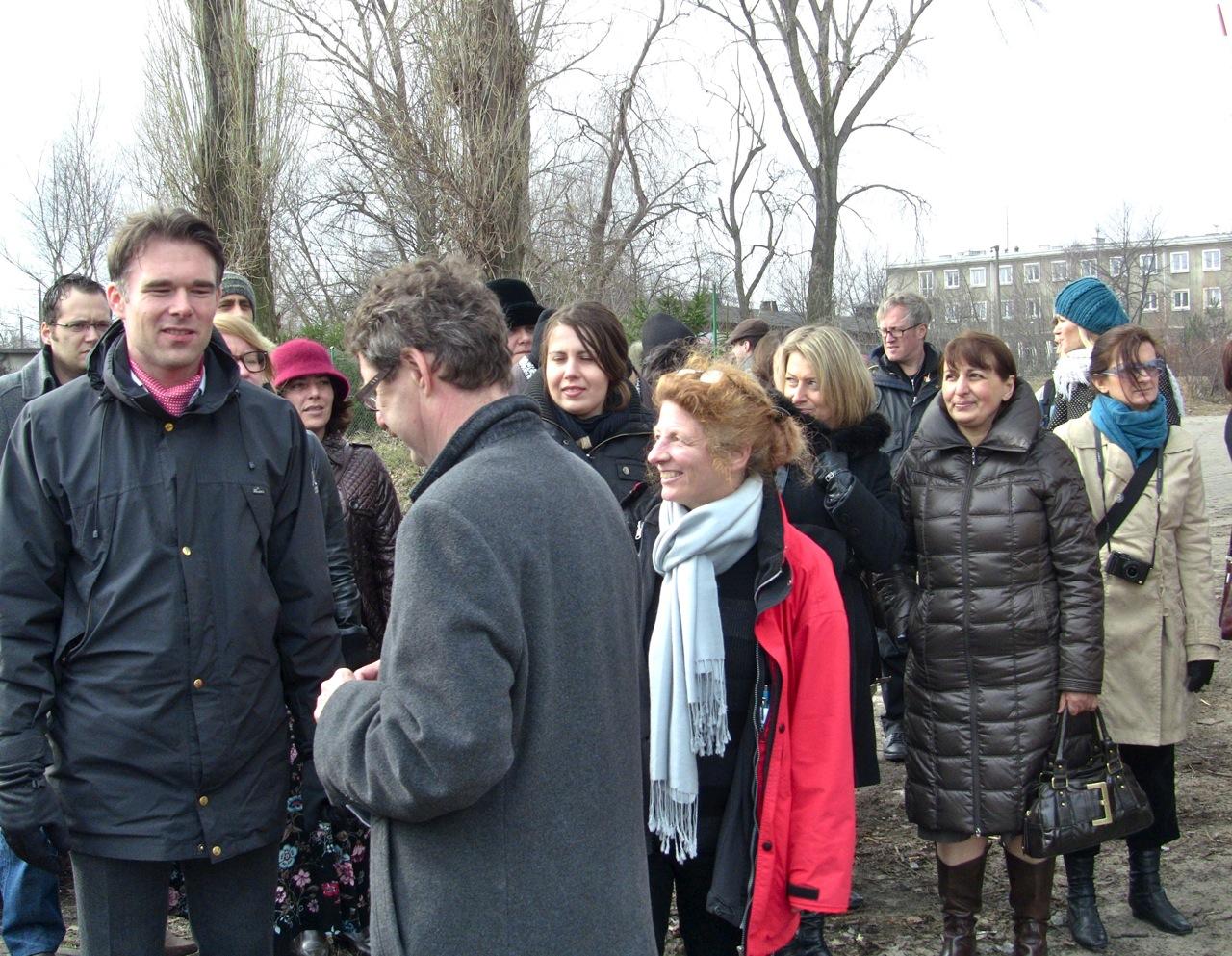 Uczestnicy wycieczki nad Martą Wisłą