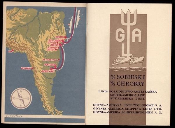 MS Sobieski, MS Chrobry Linia Południowo-Amerykańska 1939 r. źródło Polona