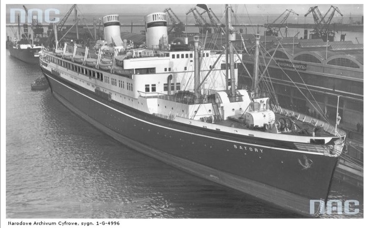Statek pasażerski MS Batory Źródło - Narodowe Archiwum Cyfrowe