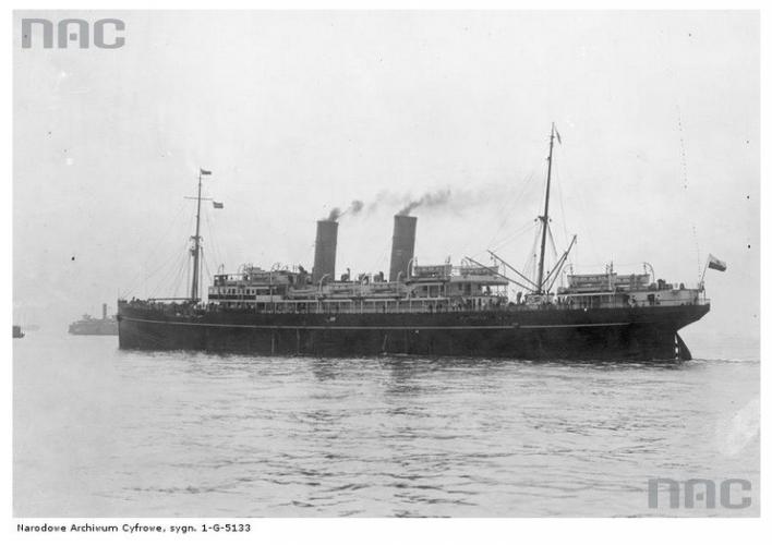 Statek pasażerski SS Polonia Źródło - Narodowe Archiwum Cyfrowe