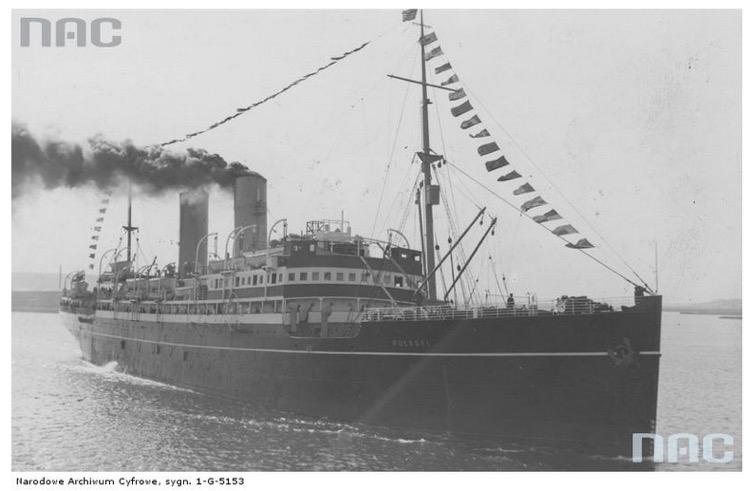 Statek pasażerski SS Pułaski Źródło - Narodowe Archiwum Cyfrowe