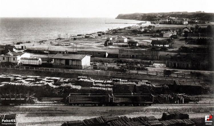 Budowa portu morskiego w Gdyni, 1925 r.