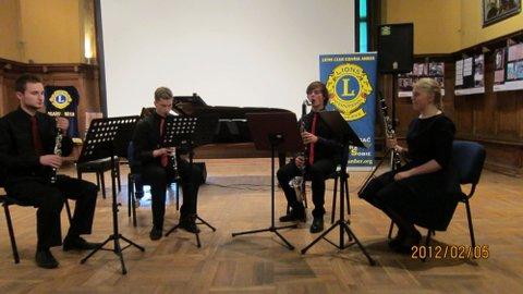 Kwartet klarnetowy: Jacek Piechowski, Klaudia Kulwikowska, Jakub Klemensiewicz, Szymon Laskiewicz