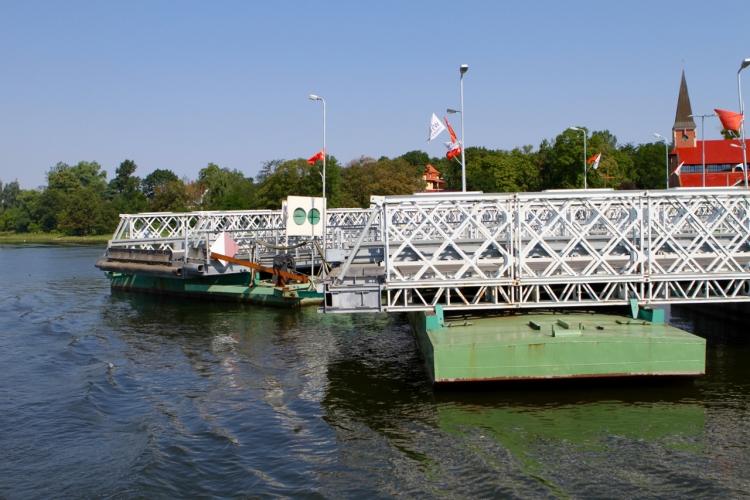 Wyspa Sobieszewska - most pontonowy