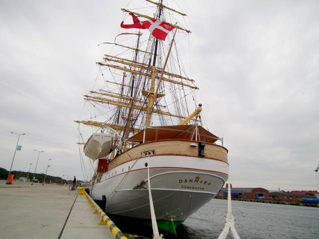 Żaglowiec Danmark w Gdańsku