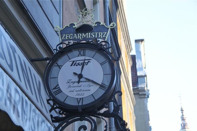 zegar na ul. Długiej w Gdańsku