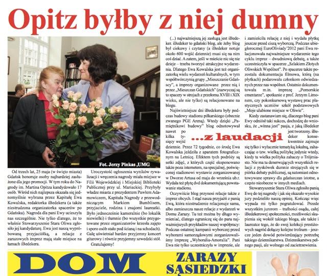 nagroda Opitza - Gdańsk