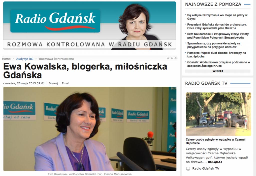 Ewa Kowalska w Radio Gdańsk