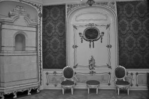 """Sala """"wykładowa"""" w Domu Uphagena"""