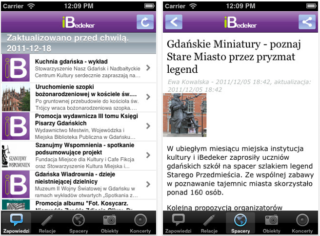 aplikacja iBedekera na iPhona