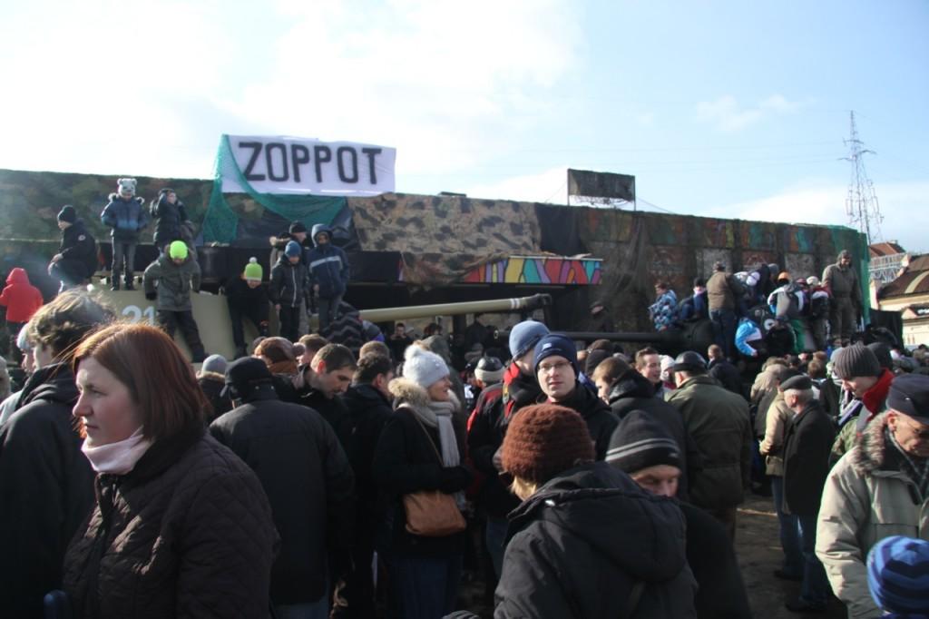 Burzenie dworca w Sopocie