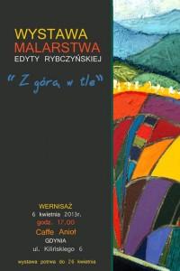 plakat wystawy edyta rybczynska