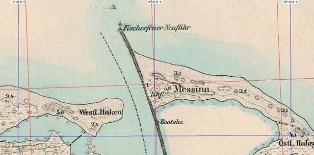Cmentarz przykościelny Khf. widoczny na mapie z 1916 r