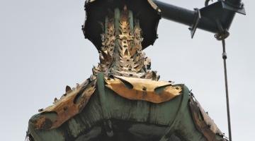 Ratusz Głównego Miasta – demontaż hełmu [wideo]