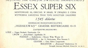 """Montownia samochodów """"Hudson-Essex"""" w Gdańsku"""