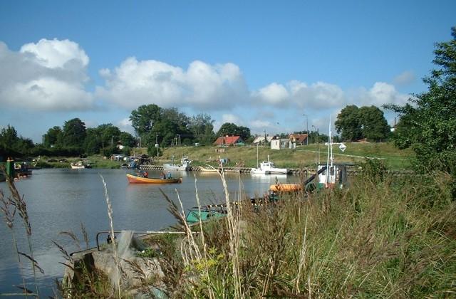Port rybacki w Świbnie - 2004 r. / Fot. Waldemar Nocny