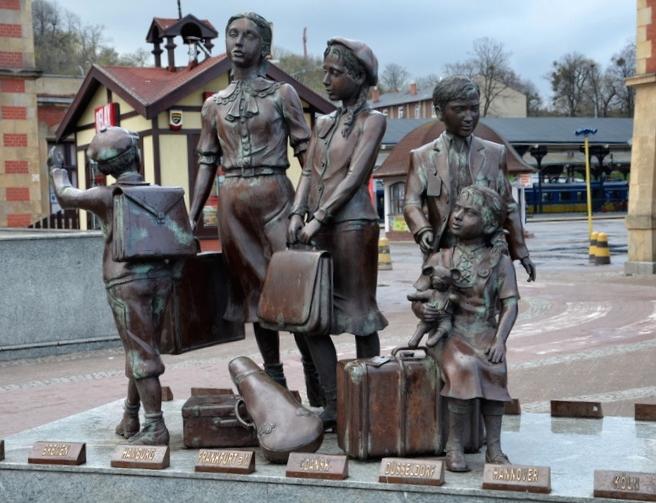 Kinkdertransporty - pomnik. Żydzi w Gdańsku