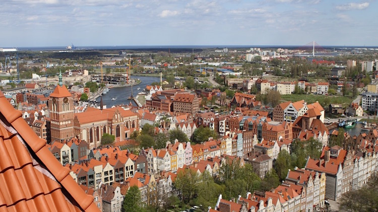 Panorama Gdańska z wieży Kościoła Mariackiego