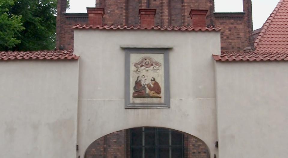 Brama przy kościele św. Józefa w Gdańsku