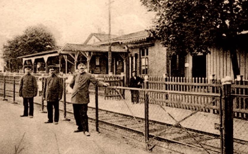 Pierwszy dworzec Gdyni, ok. 1900 r